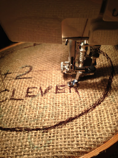 "A ""Clever"" Burlap applique shirt for Under 8's Day"