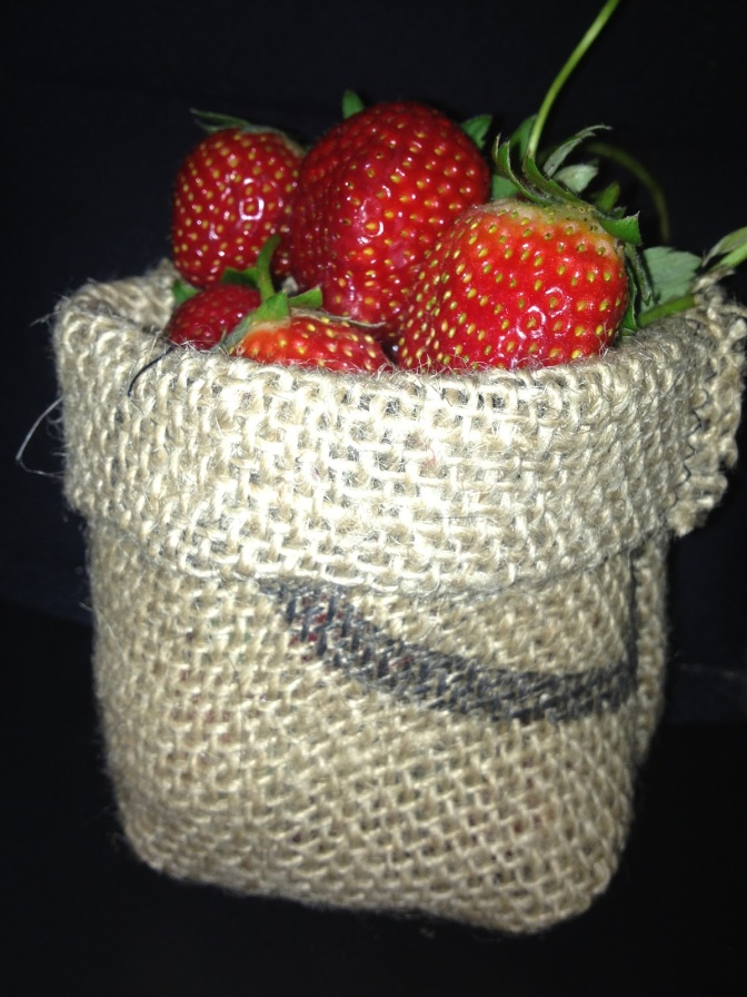 Strawberry Basket the Prefect table centrepiece