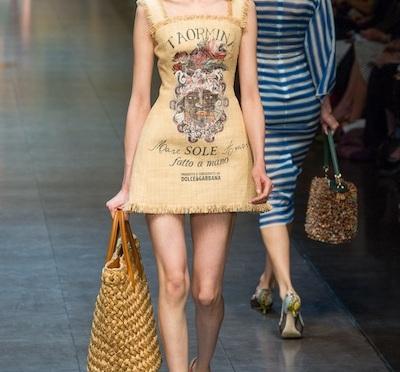 Burlap goes High Fashion