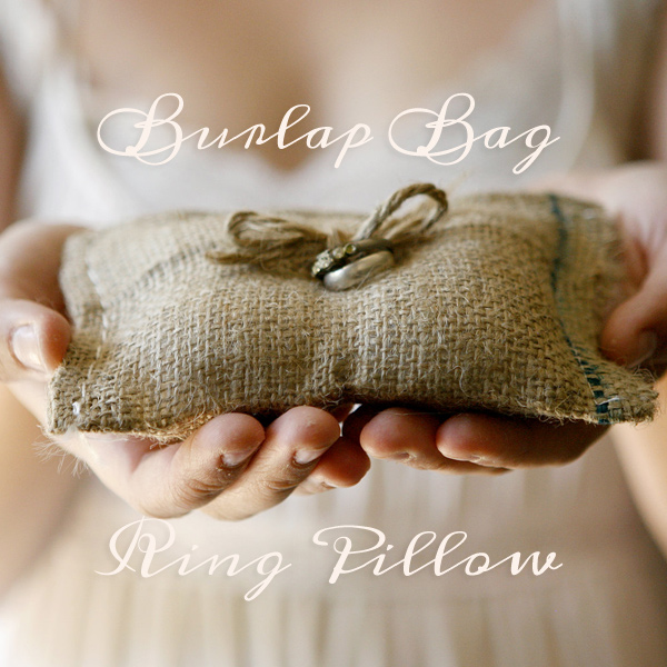Sweetest Burlap Ring Cushion