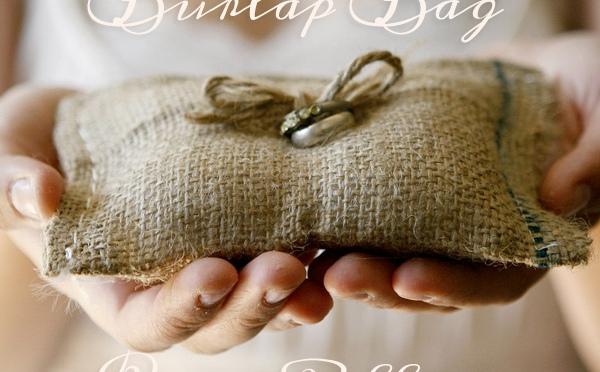 Sweetest Burlap Ring Cushion