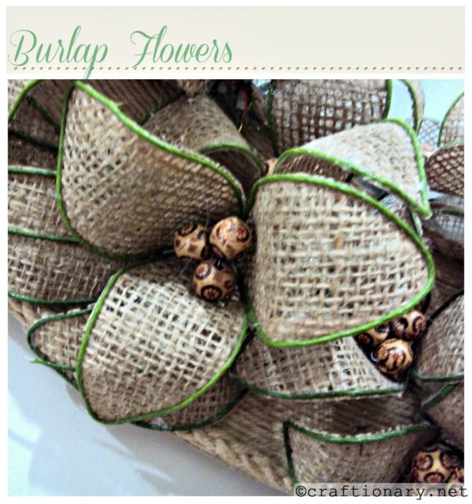 Bendable Burlap Flowers