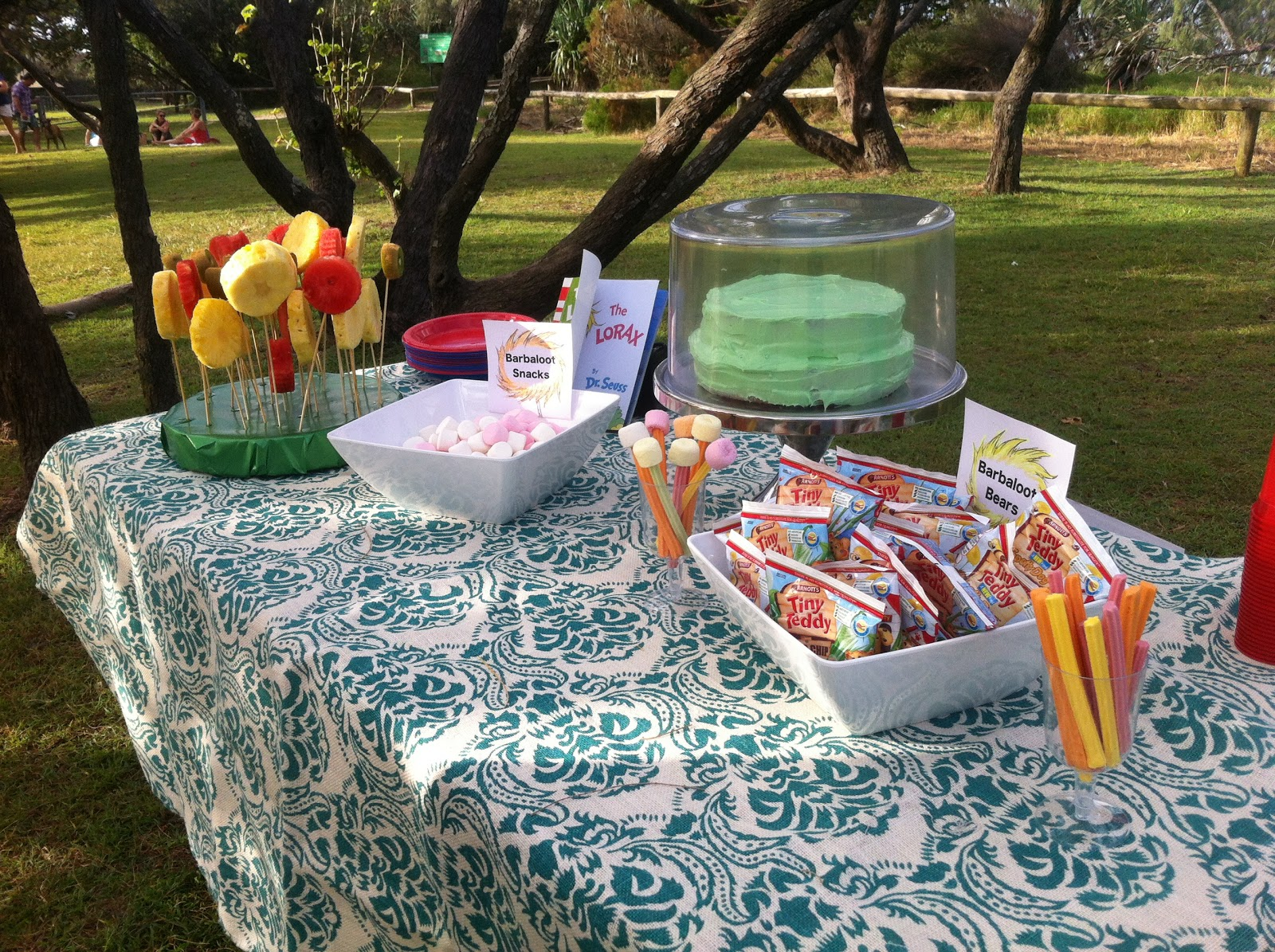 Lorax Themed 5th Birthday Party A Burlap Picnic In The