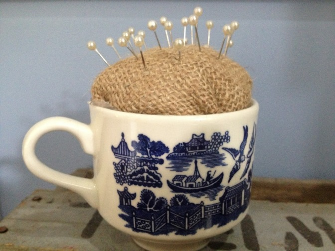 New Tea Cup Pin Cushion for the Studio